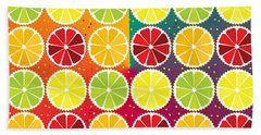Assorted Citrus Pattern Hand Towel