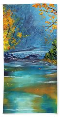 Hand Towel featuring the painting Assurance by Meaghan Troup