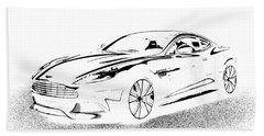 Aston Martin Hand Towel by Rogerio Mariani