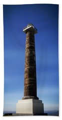 Blue Hand Towel featuring the photograph Astoria Column 1926 by Aaron Berg