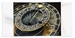 Astronomical Clock Bath Towel