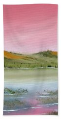 Hand Towel featuring the painting At Peace by Jennifer Muller