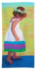 Bath Towel featuring the painting At The Beach by Deborah Boyd