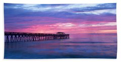 Myrtle Beach State Park Pier Sunrise Hand Towel by Vizual Studio