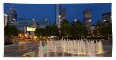 Atlanta By Night Bath Towel