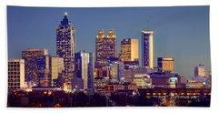 Atlanta Skyline At Dusk Downtown Color Panorama Hand Towel