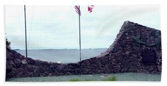 Hand Towel featuring the photograph Atlantic Charter Historic Site by Barbara Griffin