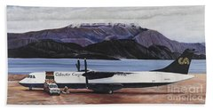 Atr 72 - Arctic Bay Hand Towel by Marilyn  McNish