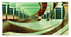 Hand Towel featuring the digital art Atrium by Paula Ayers