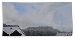 Bath Towel featuring the photograph Attic Windows Open To The Sky by Felicia Tica