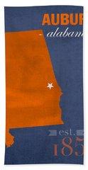 Auburn University Tigers Auburn Alabama College Town State Map Poster Series No 016 Hand Towel