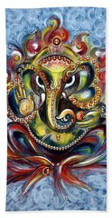 Aum Ganesha Bath Towel by Harsh Malik