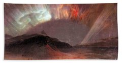 Aurora Borealis By Frederick Edwin Church Hand Towel