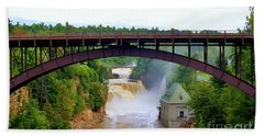 Bath Towel featuring the photograph Ausable River Bridge by Patti Whitten