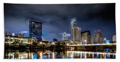 Austin Skyline Hdr Hand Towel by David Morefield