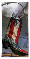 Austin Texas - Red White Blue Sequin Hand Towel