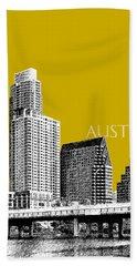 Austin Texas Skyline - Gold Hand Towel