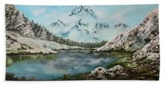 Bath Towel featuring the painting Austrian Lake by Jean Walker