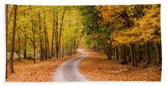 Autum Path Bath Towel by Melinda Ledsome