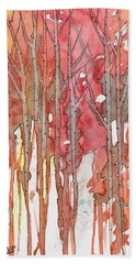 Autumn Abstract No.1 Bath Towel