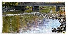 Autumn Along The Fox River Hand Towel by Kay Novy