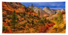 Hand Towel featuring the photograph Autumn Arroyo by Greg Norrell