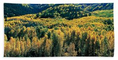 Autumn Aspens, Colorado, Usa Bath Towel