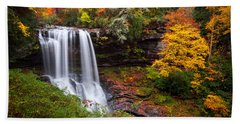 Autumn At Dry Falls - Highlands Nc Waterfalls Hand Towel