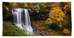 Autumn At Dry Falls - Highlands Nc Waterfalls Bath Towel