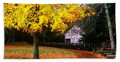 Bath Towel featuring the photograph Autumn At Old Mill by Rodney Lee Williams