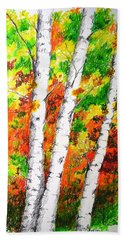 Autumn Birches Bath Towel