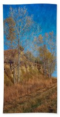 Autumn Bluff Painted Hand Towel by Nikolyn McDonald