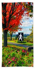 Autumn Canvas Bath Towel