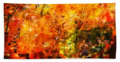 Aaron Berg Hand Towel featuring the photograph Autumn Colors by Aaron Berg