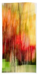 Autumn Colors In Abstract Bath Towel
