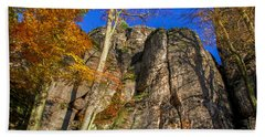 Autumn Colors In The Saxon Switzerland Bath Towel
