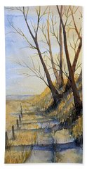 Autumn Country Road Hand Towel