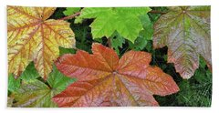 Autumn Devil's Club Bath Towel by Cathy Mahnke