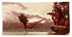 Autumn Dragons Hand Towel by Daniel Eskridge