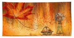 Autumn Dreams- Autumn Impressionism Paintings Hand Towel