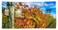 Autumn Falls At The Winery Bath Towel