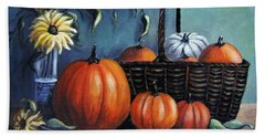 Bath Towel featuring the painting Autumn Gifts by Vesna Martinjak