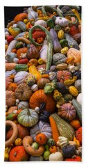 Autumn Harvest Pile Bath Towel