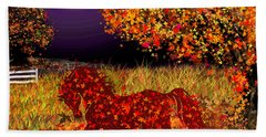 Autumn Horse Bewitched Bath Towel