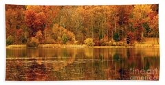 Autumn In Mirror Lake Hand Towel