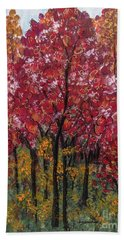 Autumn In Nashville Hand Towel by Holly Carmichael