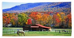 Autumn In Rural Virginia  Hand Towel by Lynn Bauer