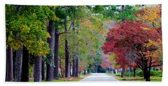 Bath Towel featuring the photograph Autumn In The Air by Cynthia Guinn