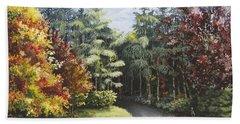 Autumn In The Arboretum Hand Towel