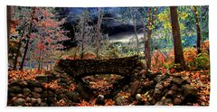 Bath Towel featuring the painting Autumn In The Meadow by Michael Rucker